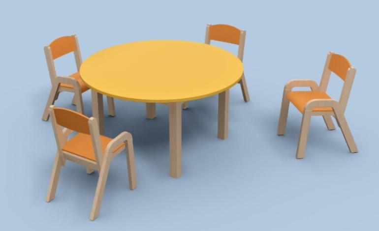 Wooden kindergarten chairs