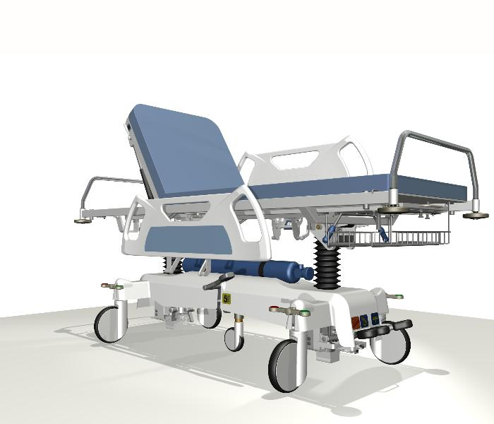 Trolleys for patients transport